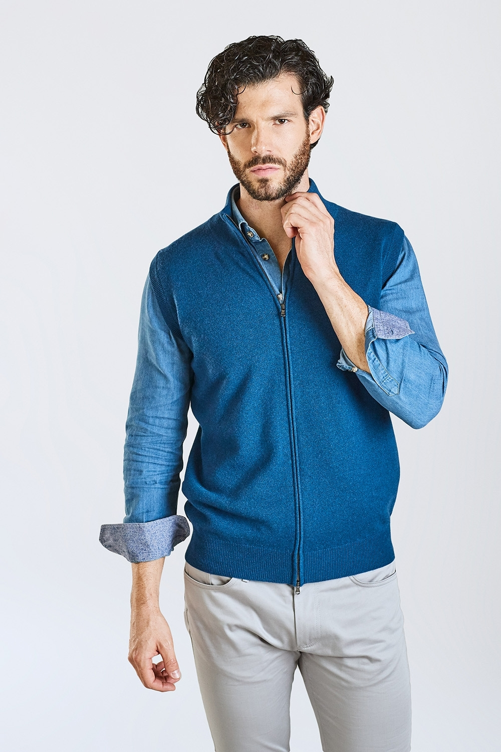 Domenico - Zip Sweater Without Sleeves