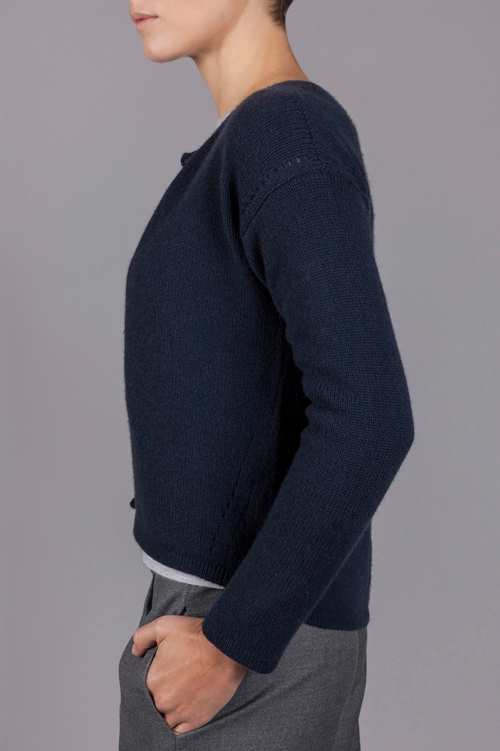 Pure Cashmere Short Bodied Cardigan